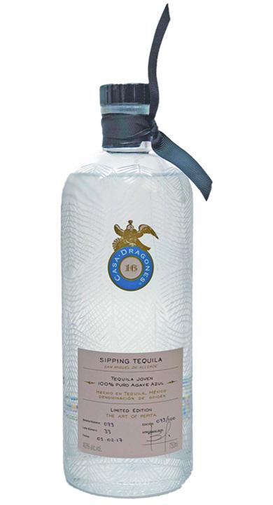 Bottle of Casa Dragones Tequila Joven (Pepita Bottle)