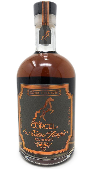 Bottle of Tequila Corcel Extra Añejo