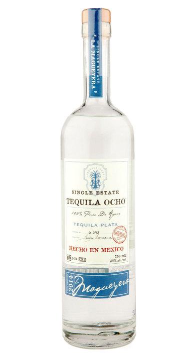 Bottle of Ocho Tequila Plata - La Magueyera 2014
