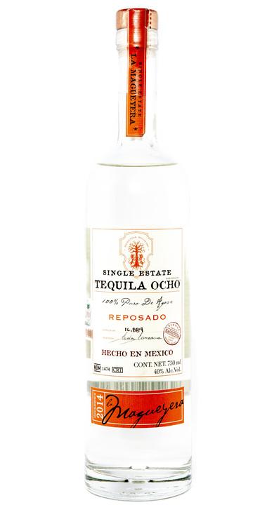 Bottle of Ocho Tequila Reposado - La Magueyera 2014