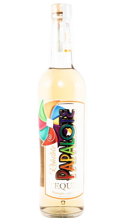 Bottle of Rehilete Papalote Reposado