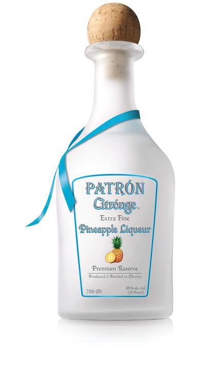 Bottle of Patrón Citrónge Pineapple