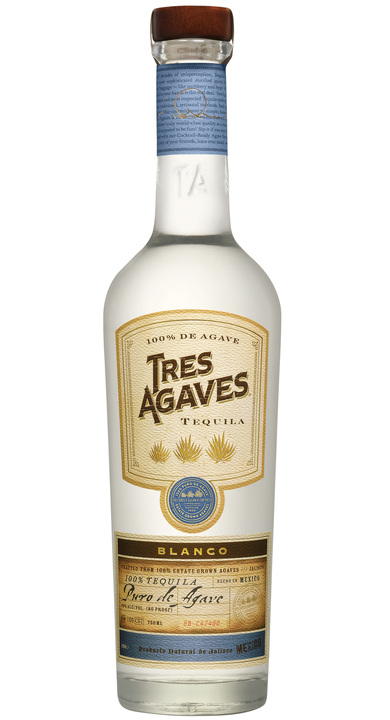 Bottle of Tres Agaves Blanco