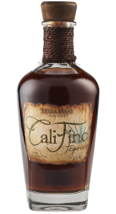 Bottle of CaliFino Tequila Extra Añejo