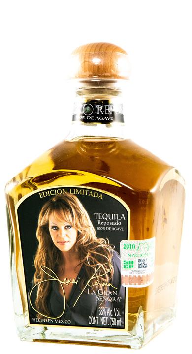 Bottle of Jenni Rivera La Gran Señora Reposado Tequila