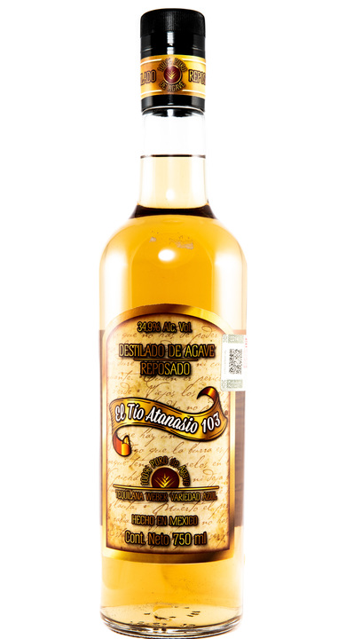 Bottle of El Tio Atanasio 103 Destilado de Agave Reposado