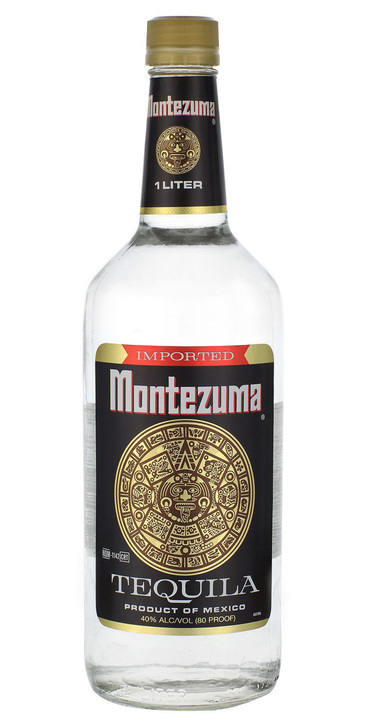 Bottle of Montezuma White Tequila