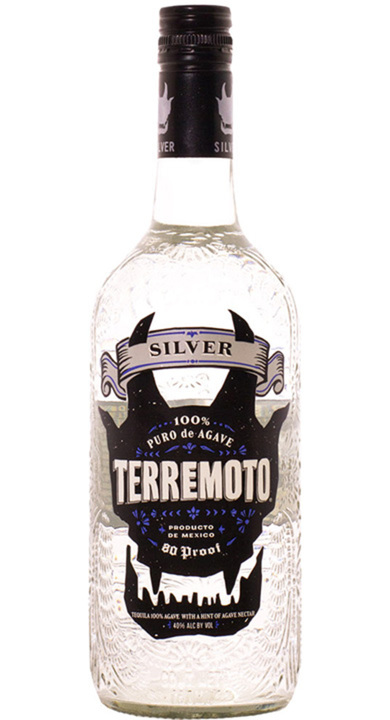 Bottle of Terremoto Silver Tequila