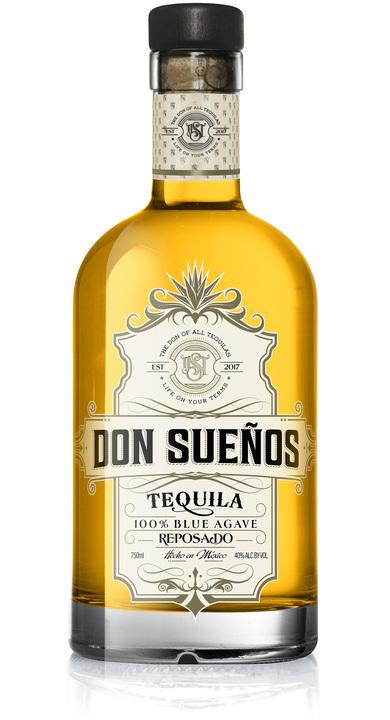 Bottle of Don Sueños Tequila Reposado