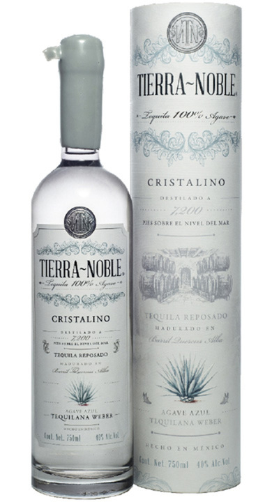 Bottle of Tierra Noble Tequila Cristalino