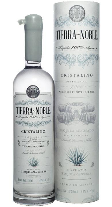 Bottle of Tierra Noble Tequila Cristalino