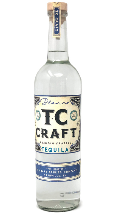 Bottle of TC Craft Tequila Blanco
