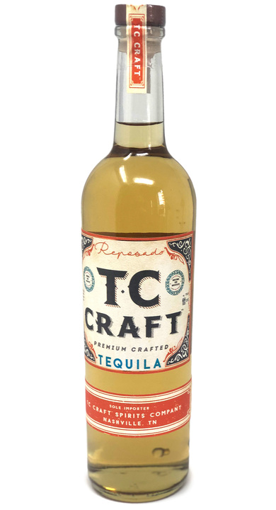 Bottle of TC Craft Tequila Reposado