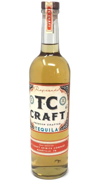 Bottle of TC Craft Tequila Reposado