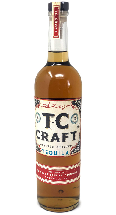 Bottle of TC Craft Tequila Añejo
