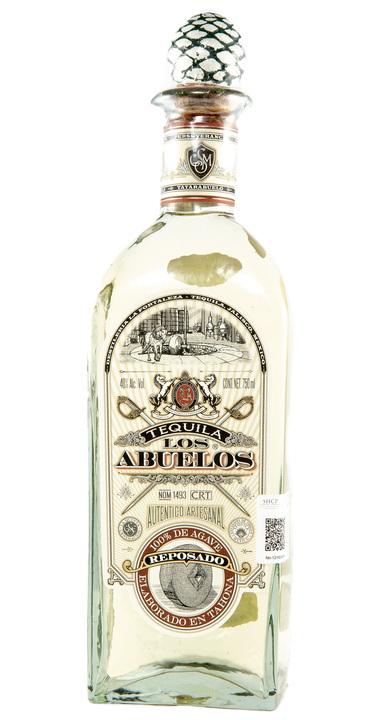 Bottle of Los Abuelos Reposado