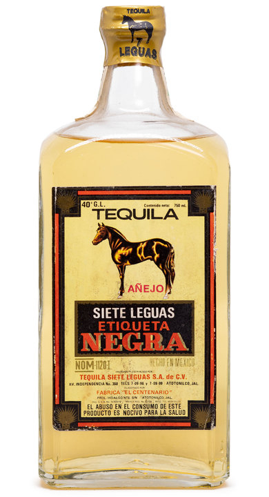 Bottle of Siete Leguas Etiqueta Negra Añejo