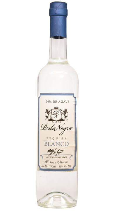 Bottle of Perla Negra Tequila Blanco