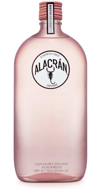 Bottle of Alacran Tequila Limited Edition Pink Bottle