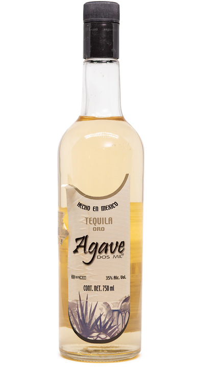 Bottle of Agave Dos Mil Tequila Gold