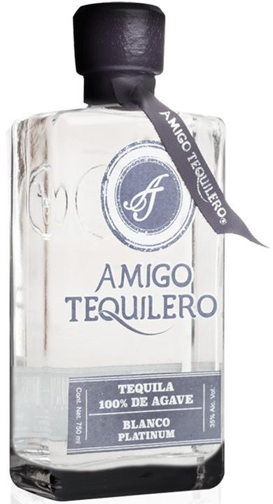 Bottle of Amigo Tequilero Blanco Platinum
