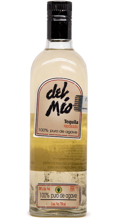 Bottle of Del Mio Tequila Reposado