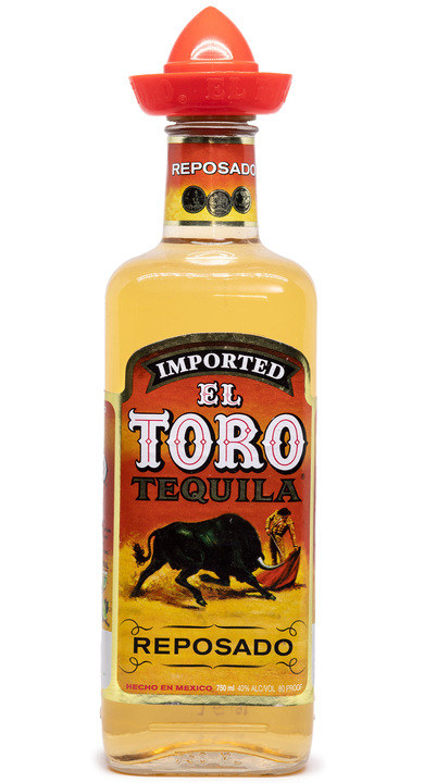 Bottle of El Toro Tequila Reposado