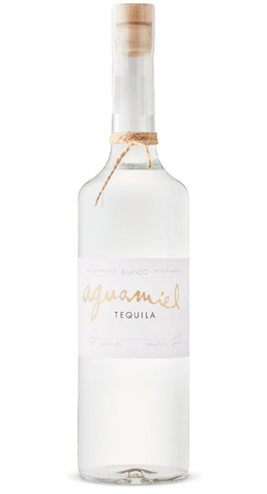 Bottle of Aguamiel Tequila Blanco
