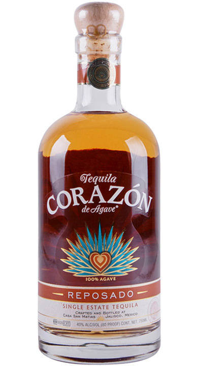 Bottle of Corazon Single Estate Reposado