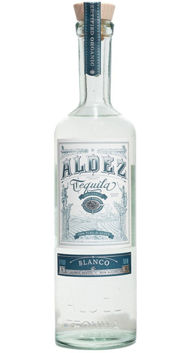 Bottle of Aldez Organic Tequila Blanco