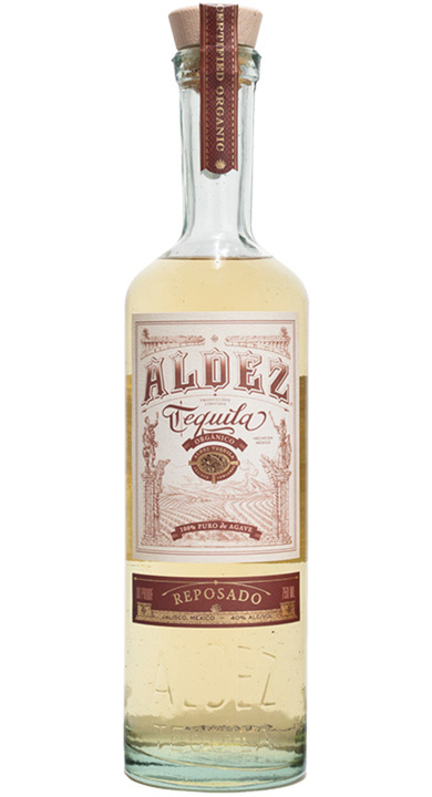 Bottle of Aldez Organic Tequila Reposado