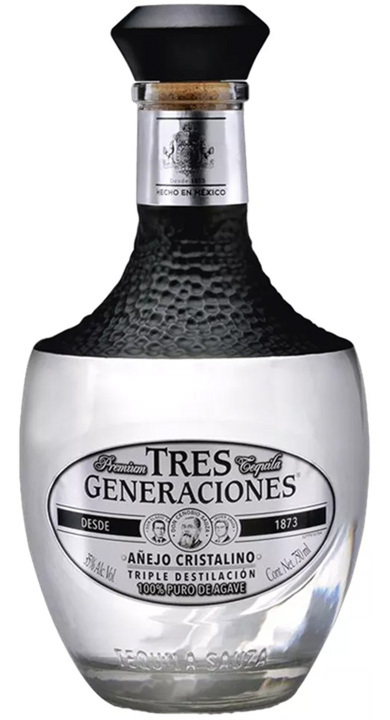 Bottle of Tres Generaciones Añejo Cristalino
