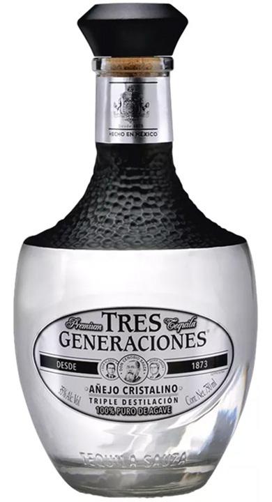 Bottle of Tres Generaciones Añejo Cristalino