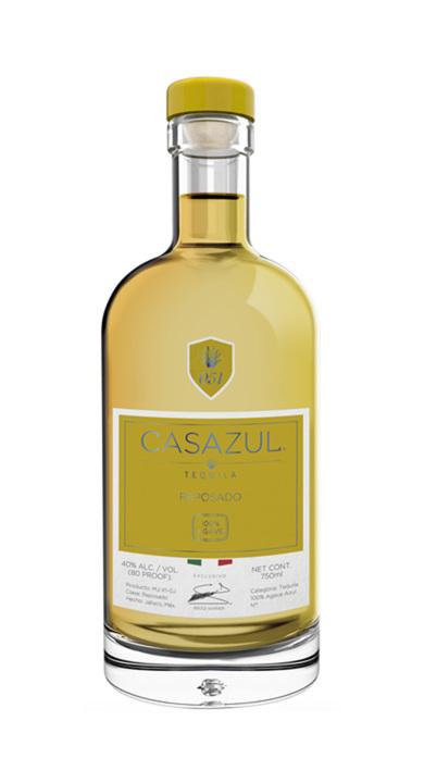 Bottle of Casazul Tequila Reposado
