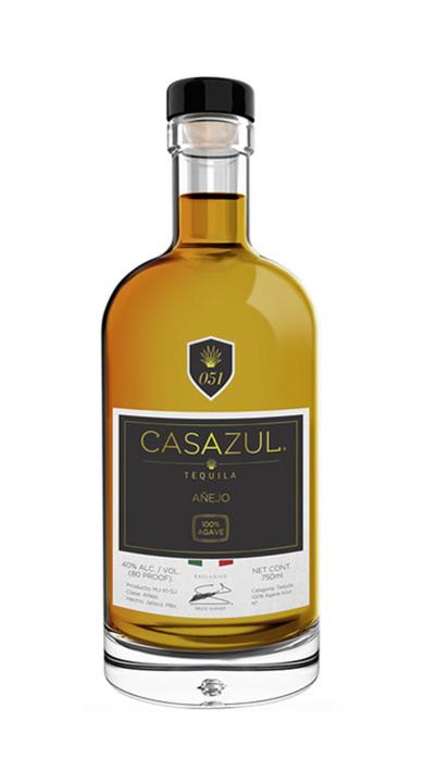 Bottle of Casazul Tequila Añejo
