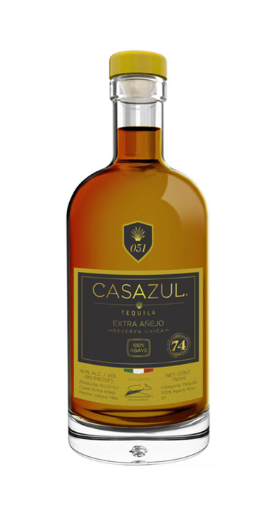 Bottle of Casazul Extra Añejo Reserve Unica
