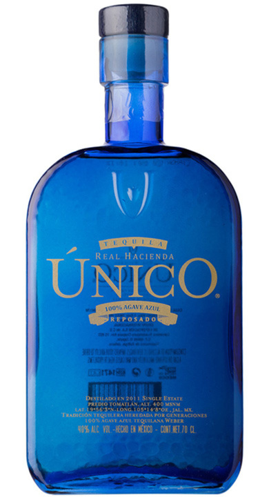 Bottle of Real Hacienda Único Reposado