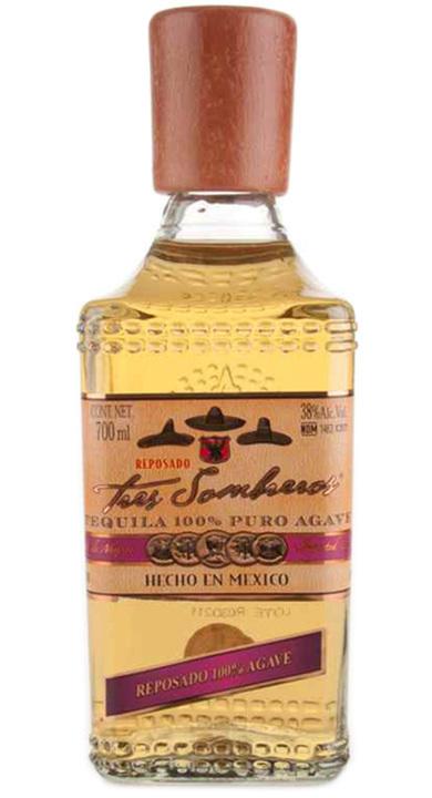 Bottle of Tres Sombreros Reposado