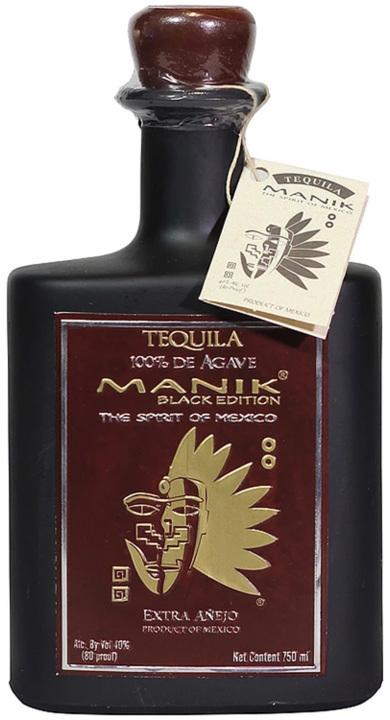 Bottle of Manik Black Edition Extra Añejo