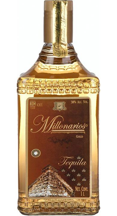 Bottle of Tequila Millonarios Gold