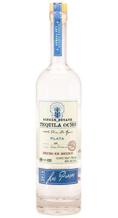 Bottle of Ocho Tequila Plata - Las Presas 2018