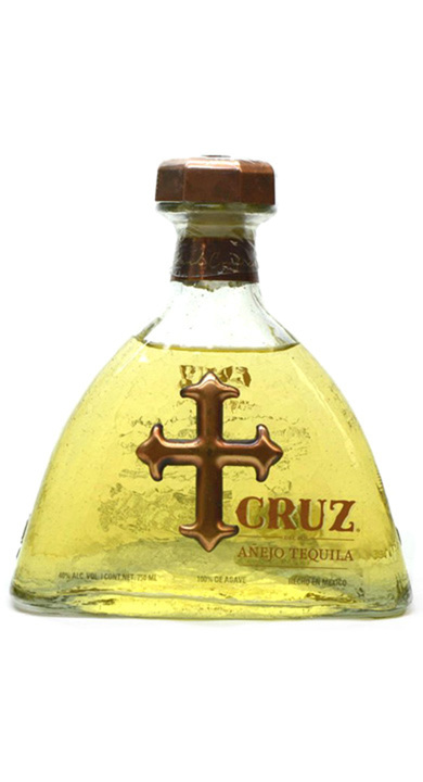 Bottle of Cruz Tequila Añejo