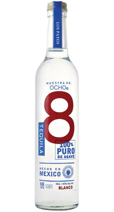 Bottle of Ocho Tequila Plata - Los Patos 2016