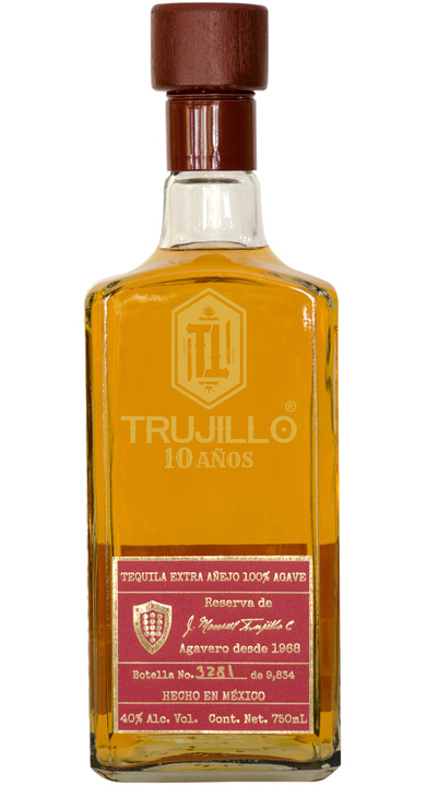Bottle of Trujillo 10 Años Tequila Extra Añejo