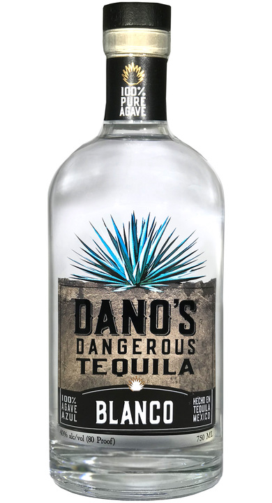 Bottle of Dano's Dangerous Tequila Blanco