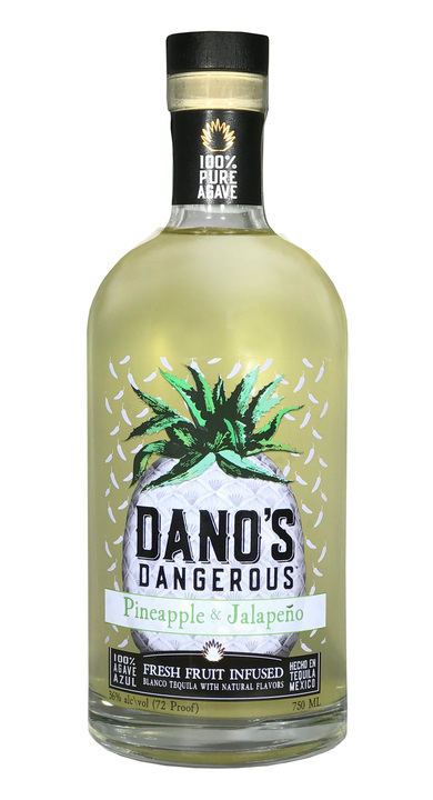 Bottle of Dano's Dangerous Pineapple & Jalapeño