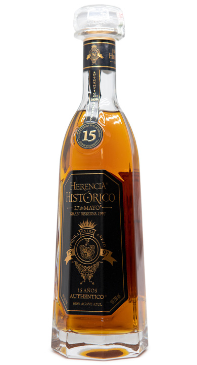 Bottle of Herencia Histórico 15 Años Extra Añejo