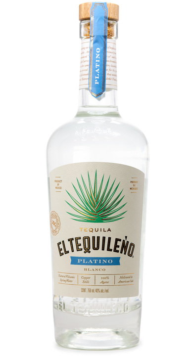 Bottle of El Tequileño Platino Blanco