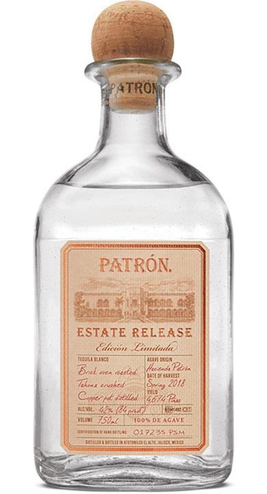 Bottle of Patrón Estate Release Edición Limitada