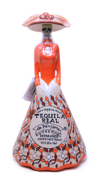 Bottle of Real de Penjamo Extra Añejo (Catrina)